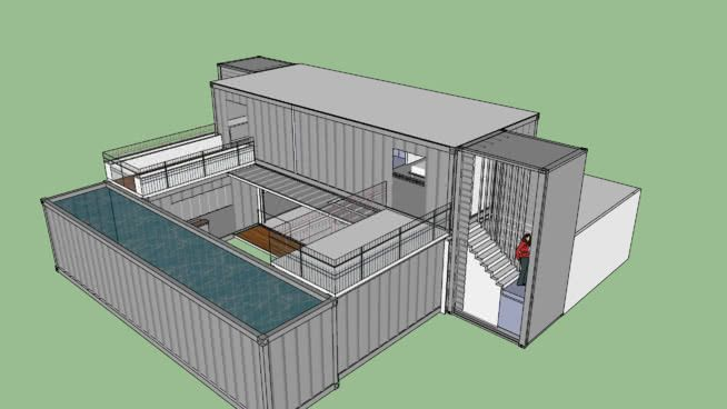 Large Preview Of 3d Model Of Shipping Container Dynamic Home With
