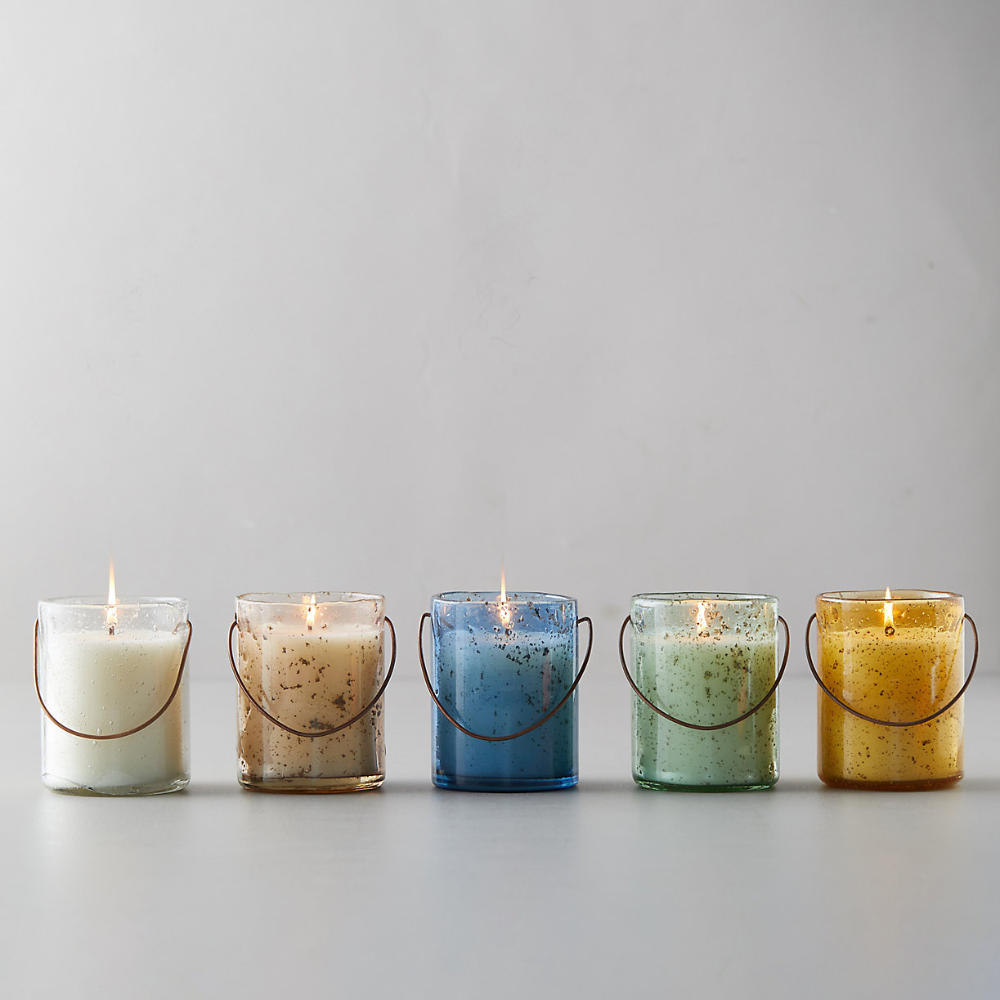 3 x Citronella Garden Candles in Glass Jars 15cm