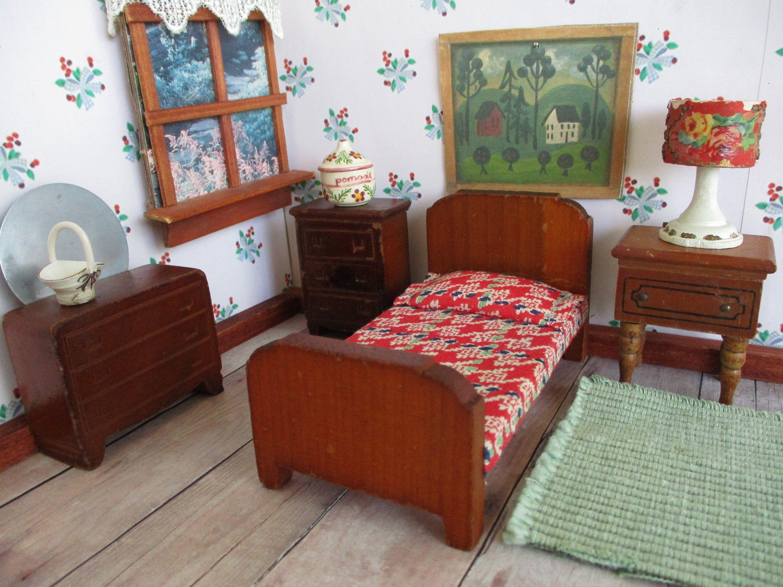 21++ Wooden dolls house bedroom furniture formasi cpns