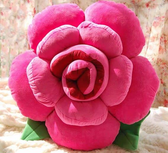 rose shaped decorative pillow back