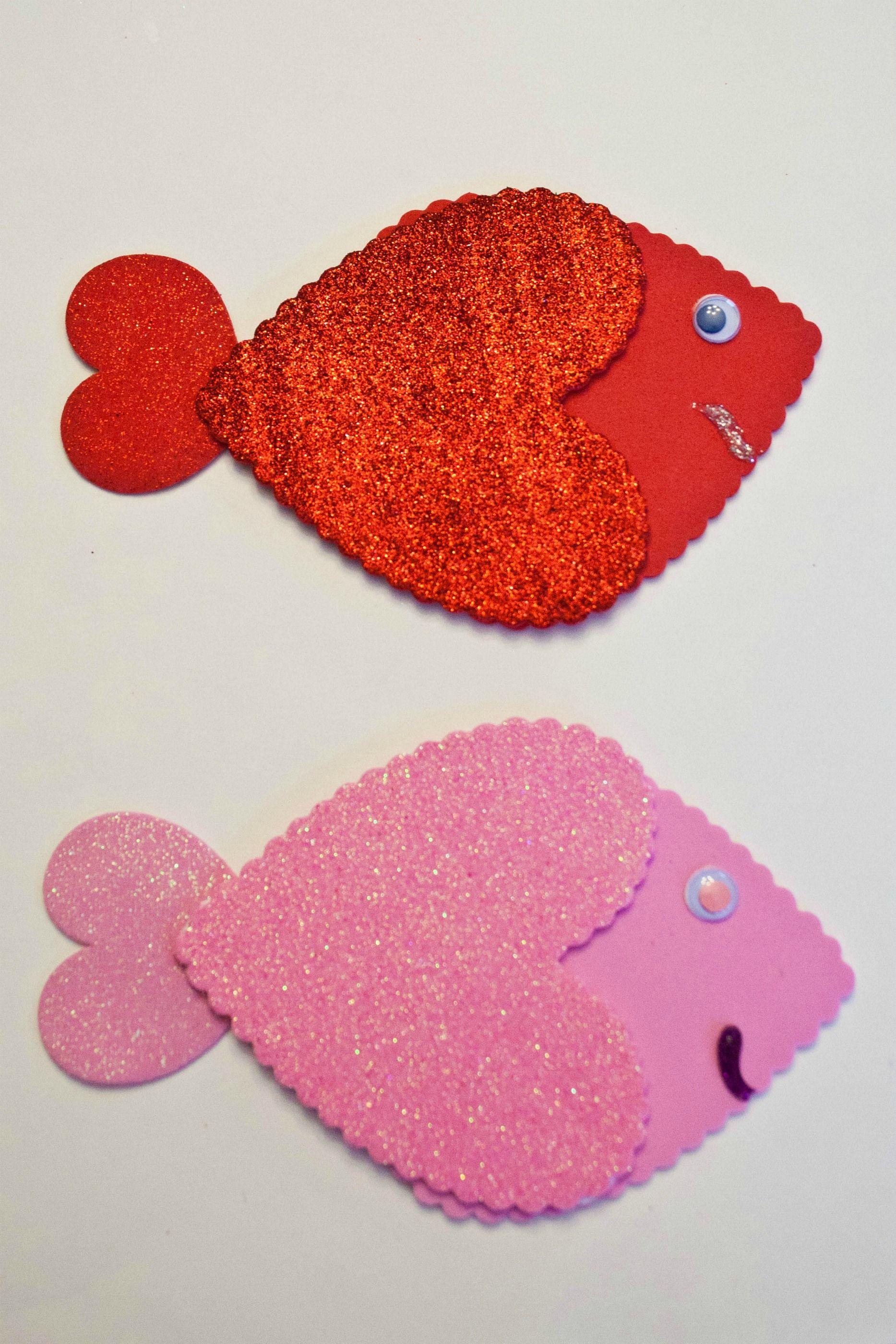 Heart fish and heart butterflies