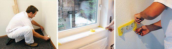 Richtig abkleben und abdecken beim Wände streichen: Zu den
