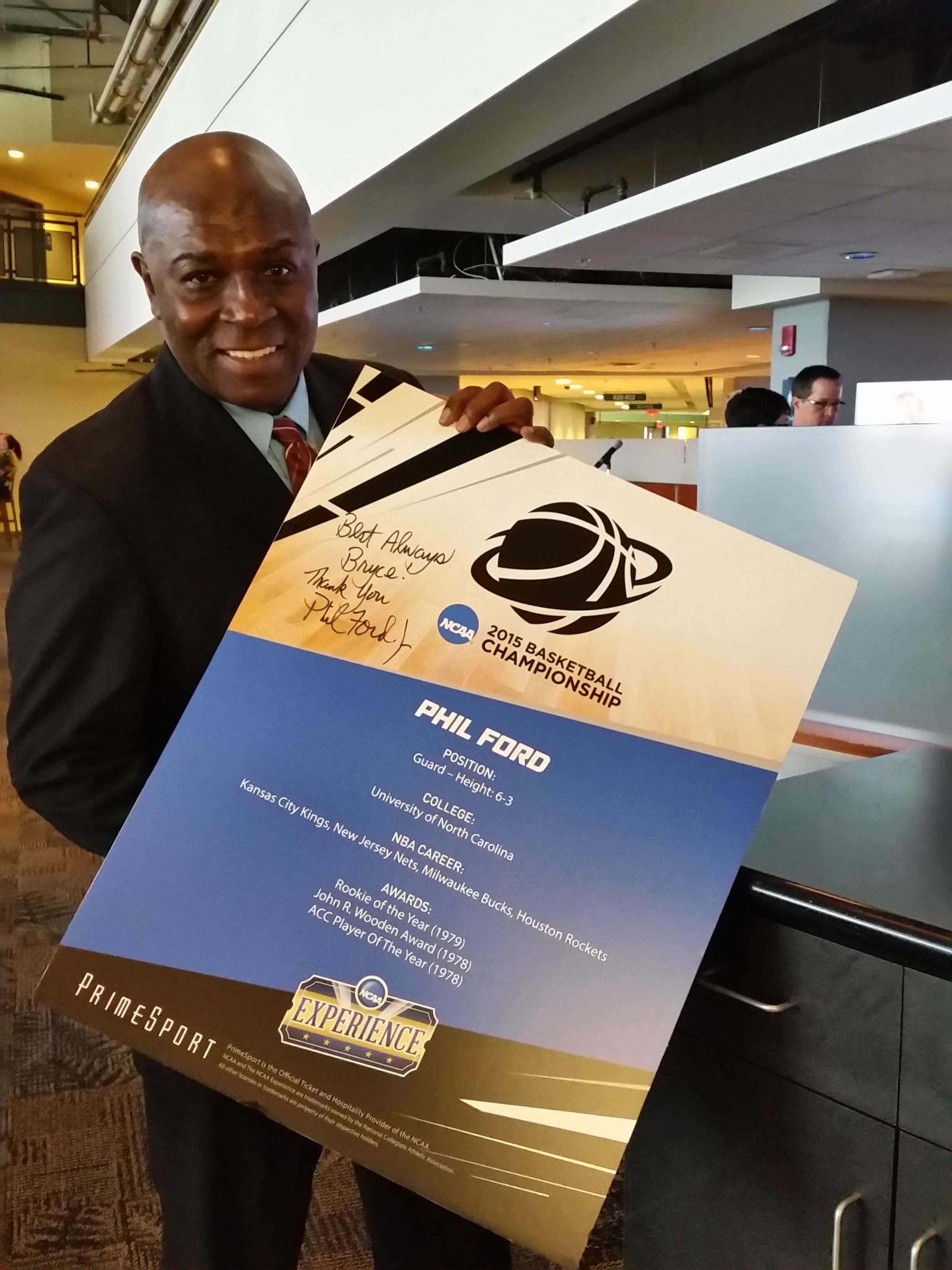 Phil Ford at the NCAA Men s Basketball Tourney pregame fan event