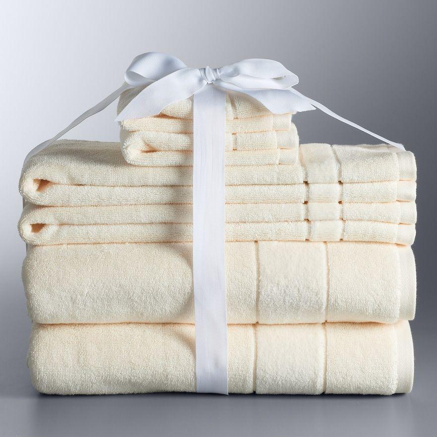 Simply Vera Vera Wang 6 Piece Turkish Cotton Bath Towel Set