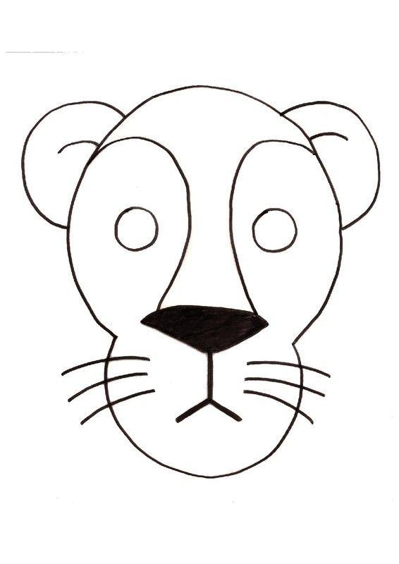 Gabarit masque de lion animaux de la savane des d serts masque lion lion coloriage et - Tete de lion dessin facile ...