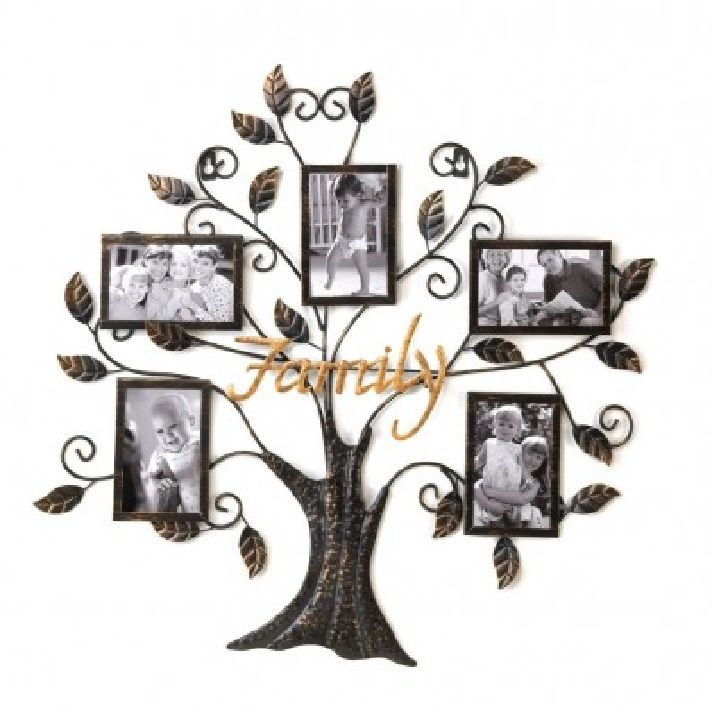 The Rustic Shop 26 Metal Family Tree Photo Frame Collage 4499