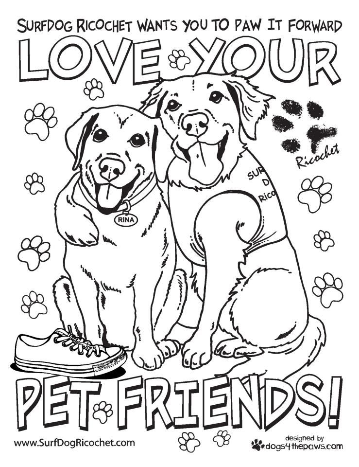 From Surf Dog Ricochet Www Surfdogricochet Com Please Share With Kids Teachers Etc My New Coloring Pages Dog Coloring Book Love Your Pet Coloring Book Art