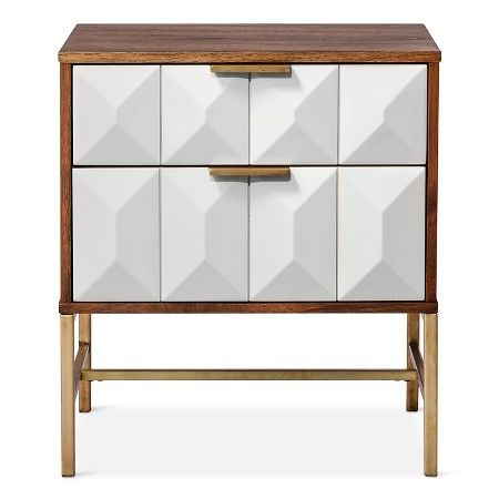 Best 2 Drawer Studded Nightstand Nate Berkus™ Home Decor 640 x 480