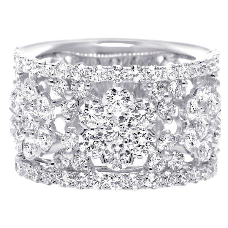 Wide Diamond Wedding Band
