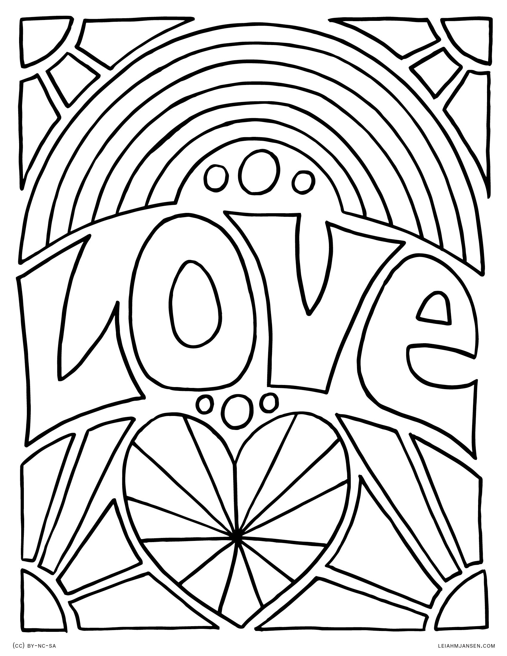 Rainbow Coloring Pages Heart Coloring Pages Adult Coloring
