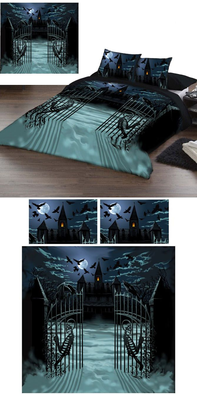 Bettwäsche Gothic Paul Mudie Enter If You Dare King Size Duvet Cover Set Us Queen