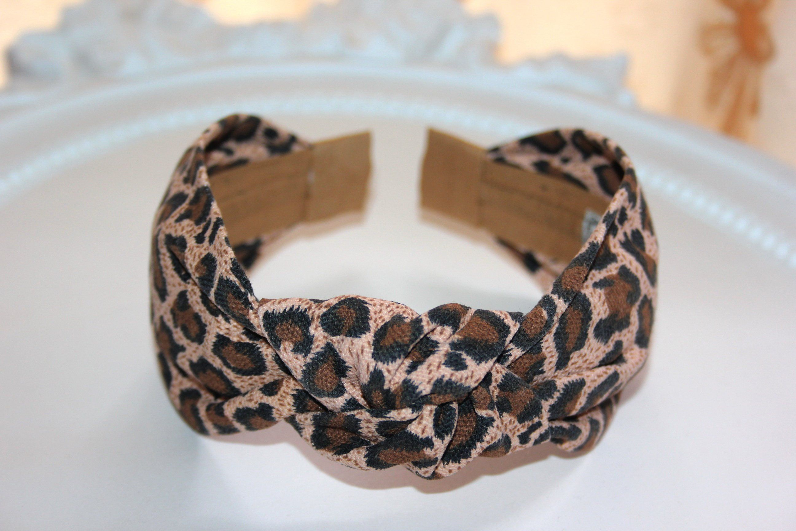 Fashion Leopard Printed Headband for Women Hair Bands Girls  Knotted  Hairband