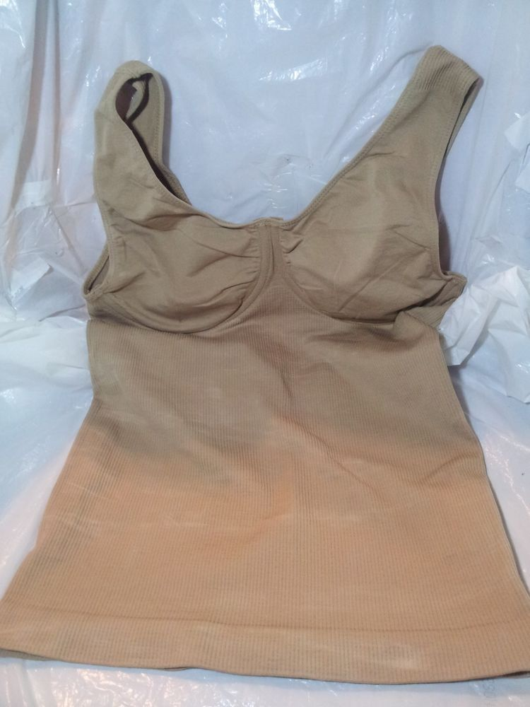 7bf9e2519f638 The Body Wrap Beige Bra   Shaper Size Medium 90% Nylon 10% Spandex Preowned