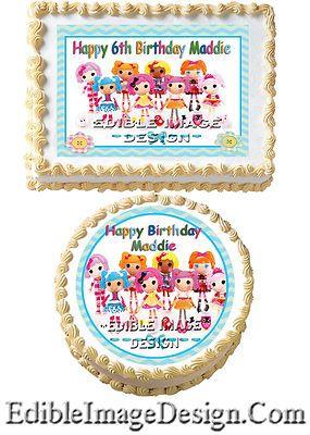 lalaloopsy edible cake image