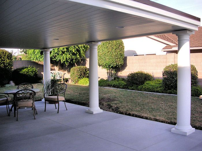 Factory Direct Remodeling Of Atlanta   Beautifully Finished Studio Patio  Cover With Greek Style Round Capital