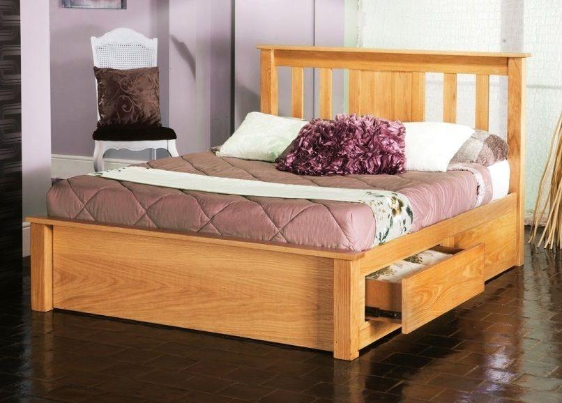Limelight Vesta 6 Super King Size Oak Wooden Bed Frame With Drawers