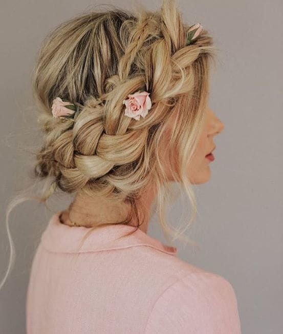 Big braid hairstyle