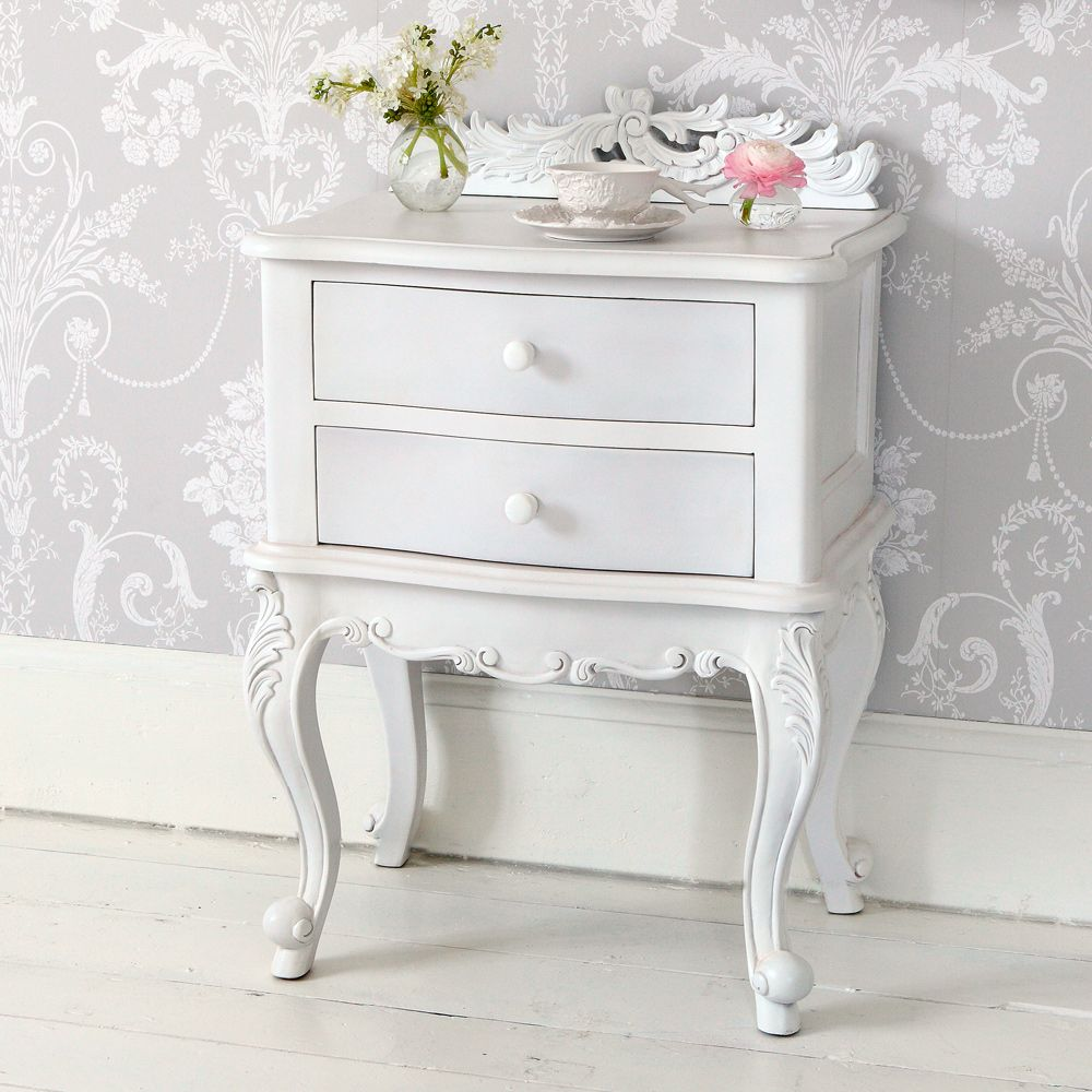 NEW! Emily White Painted Bedside Table Bedside Tables