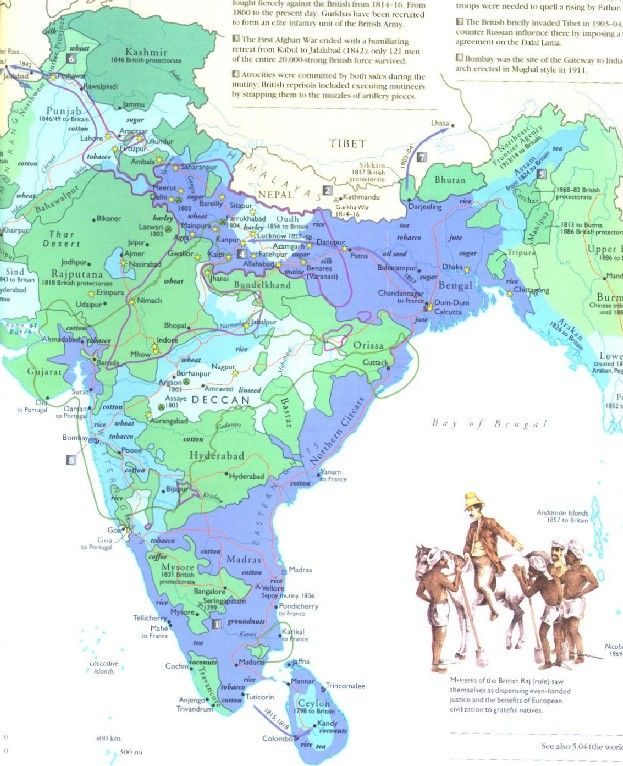 Madras India Map.Map Of British India Showing Madras Presidency And Other Parts Of