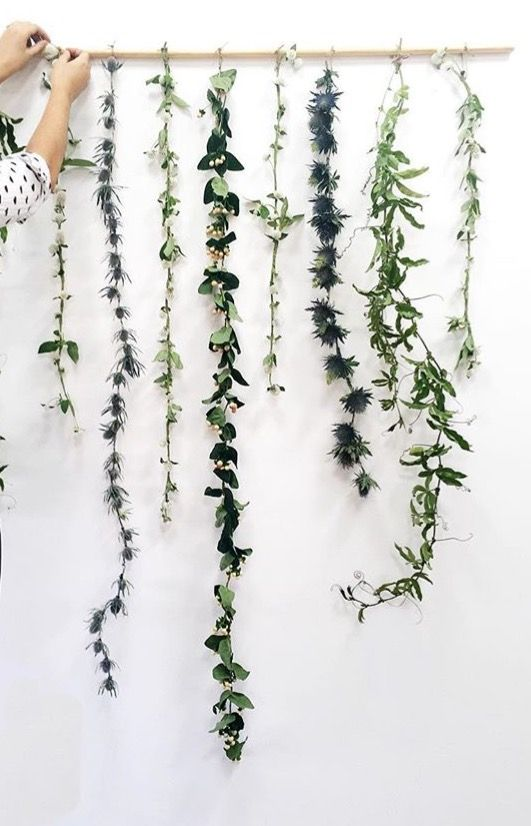 A easy garland to make with your favourite greenery and a do…