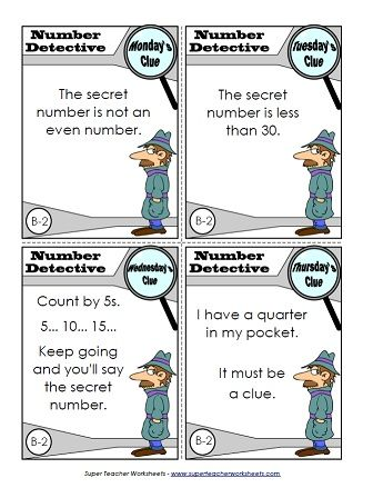 Check out our cool number detective worksheets. The kids will love ...