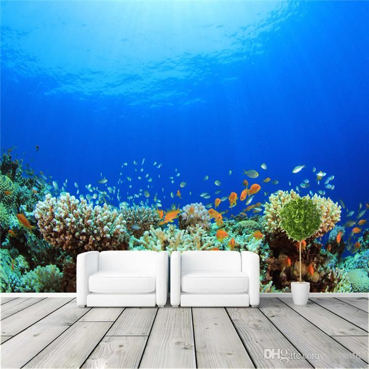 Large Custom Ocean Coral Photo Wallpaper Freedom Sea World Wall Mural Children's room Nursery Bedroom TV background 3D Mural wallpaper