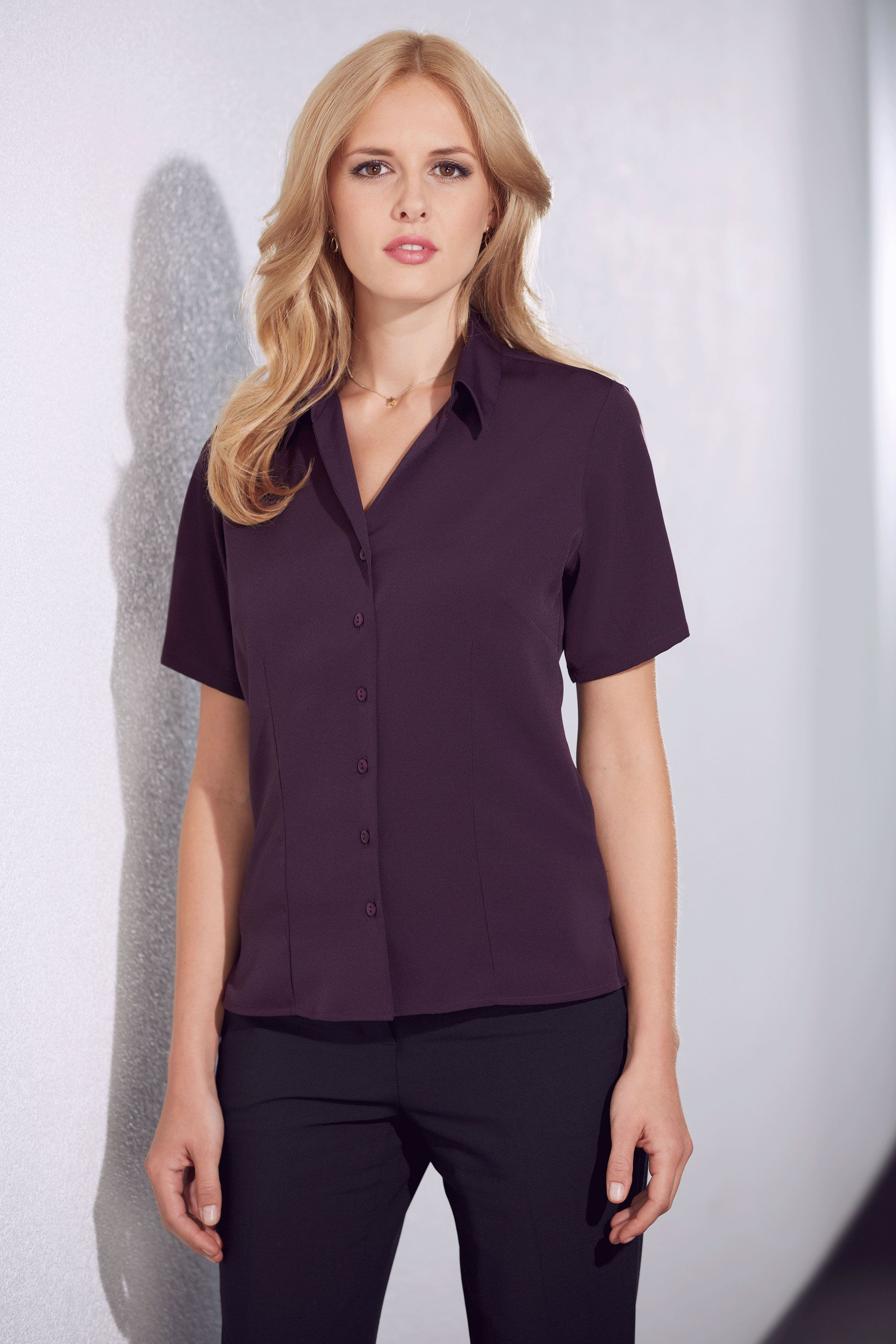 Plum Semi-fitted blouse