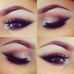 Make-up for hooded eyes