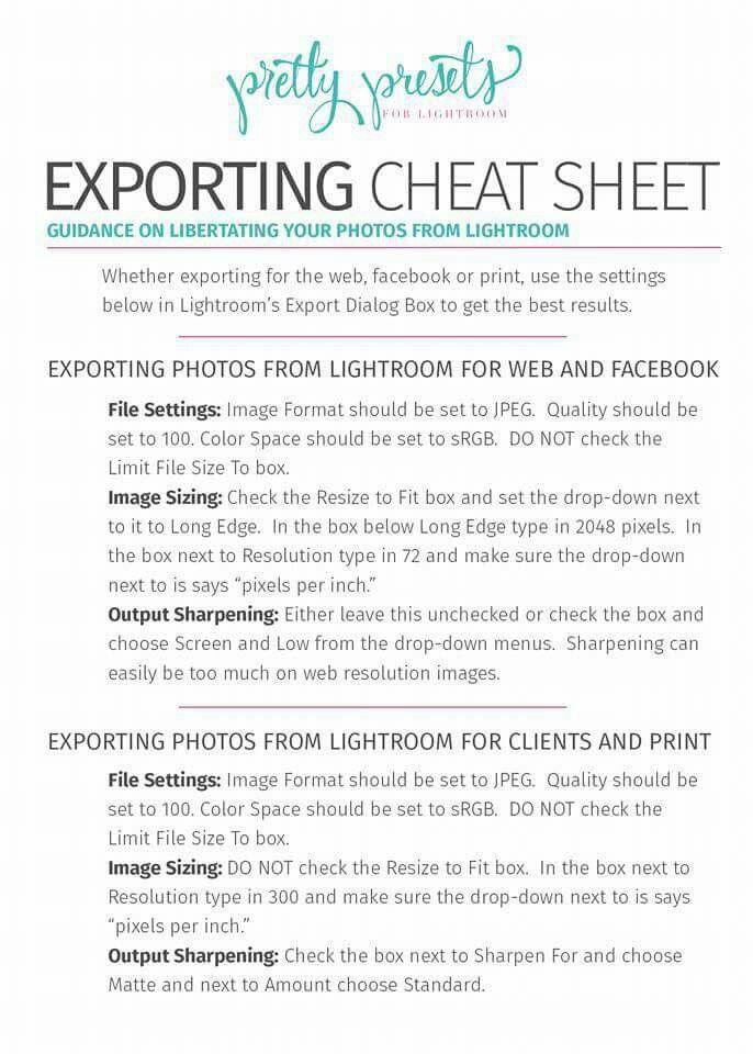 Best lightroom export settings for print