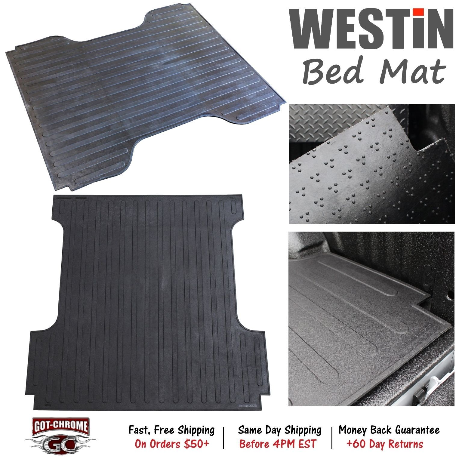 Cool Awesome 50 6235 Westin Rubber Truck Bed Mat Liner Toyota Tundra