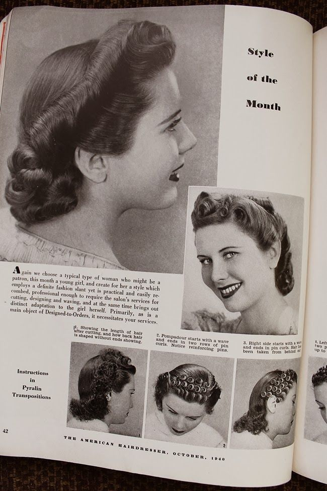 Vintage Pin Curls Diagram Robert J Lang Origami Diagrams Curl For A Formal Updo 1940s Hair Hairstyles 1940 Ww2 Set And Style Directions