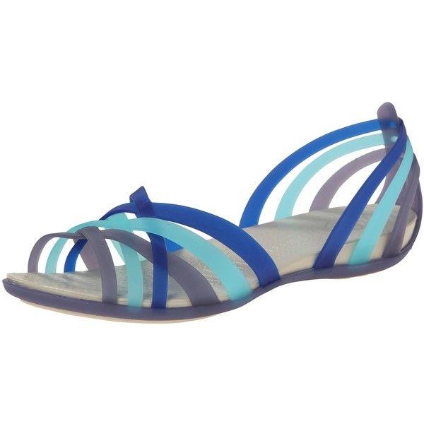 0c03485d3d4e Crocs Huarache Flat Women ( 18) ❤ liked on Polyvore featuring shoes ...
