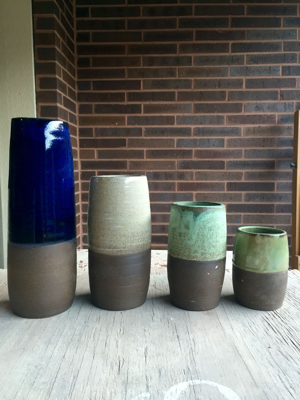 Custom Ceramic vases made for a lovely young lady opening up a flower shop in Chicago. Love how the colors turned out.