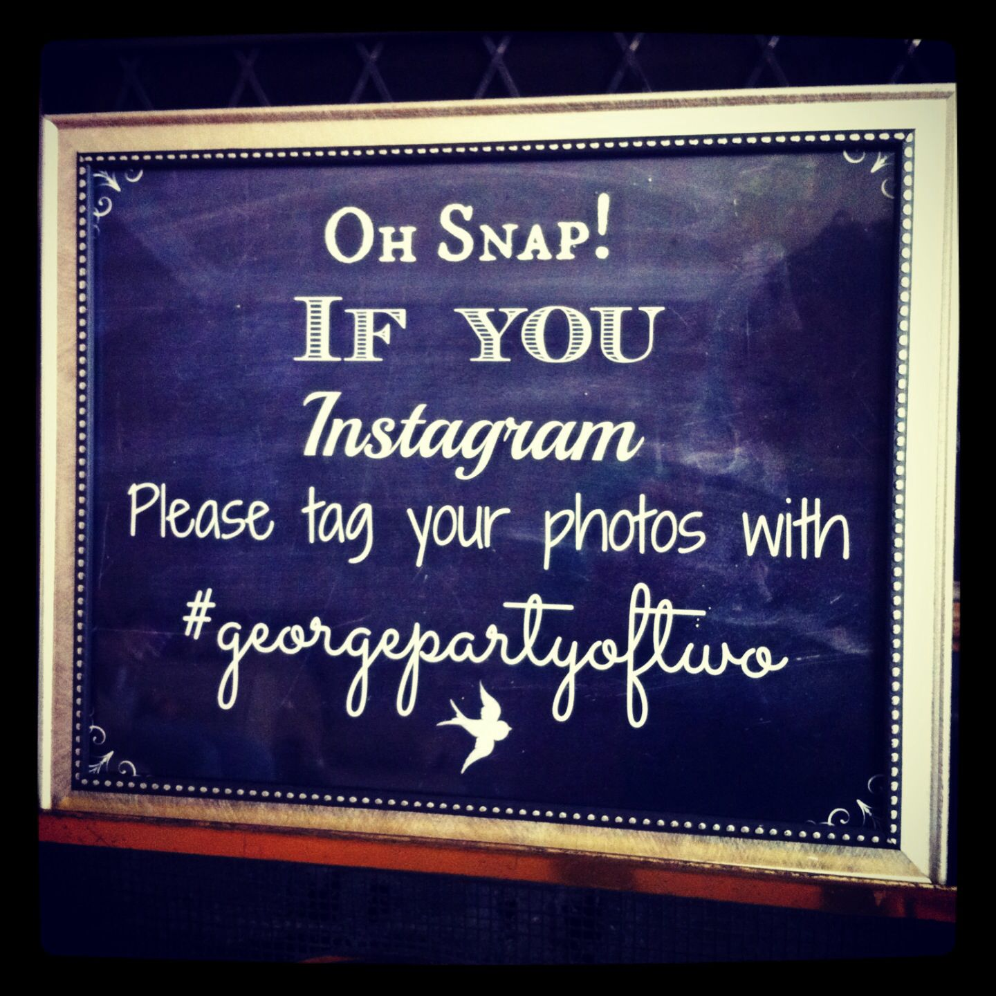 Instagram Hashtag Party Sign