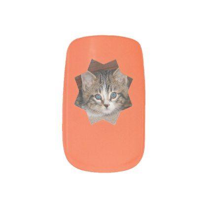 Orange Small Sun Frame Minx Nail Wraps Minx nails - small sun template