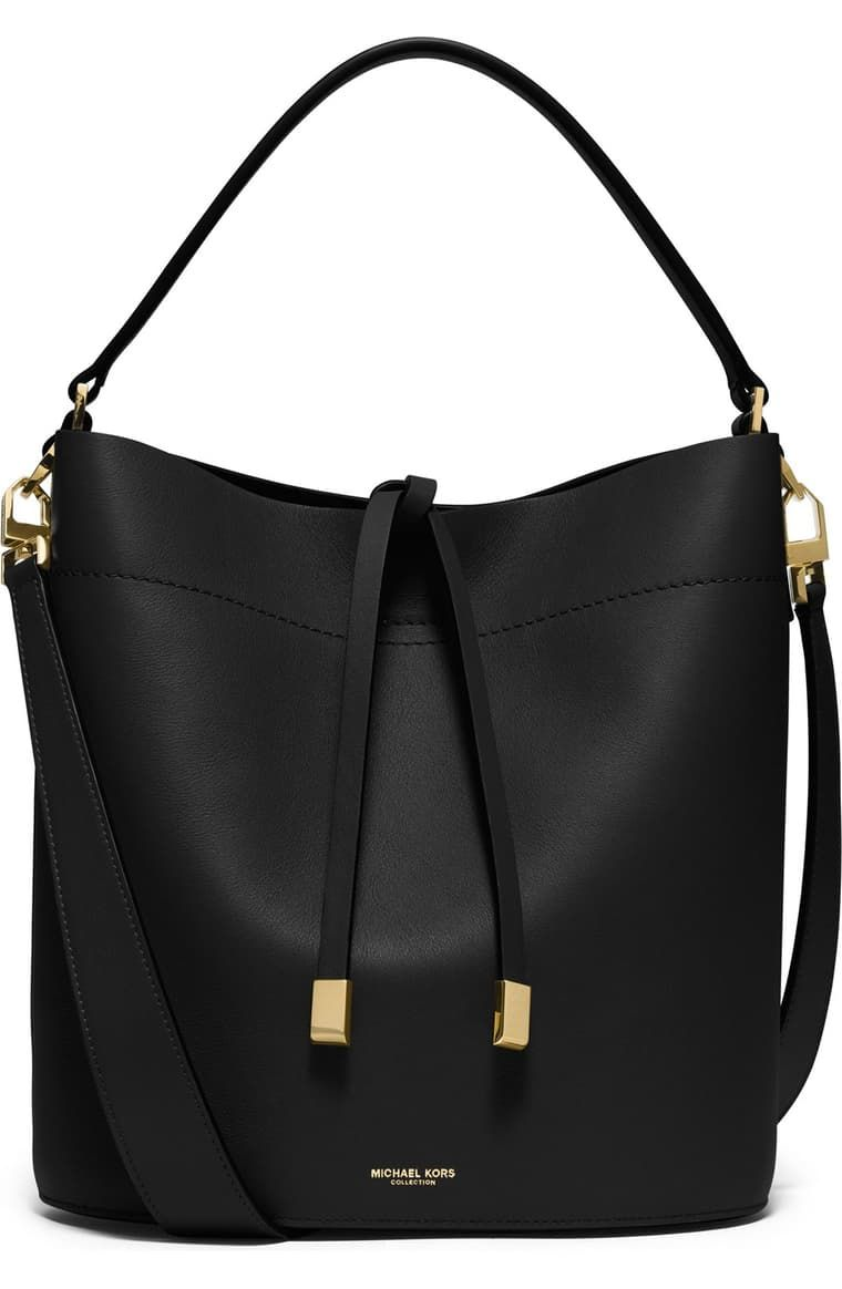 Michael Kors 'Medium Miranda' Leather Bucket Bag | Nordstrom #pursesandbags