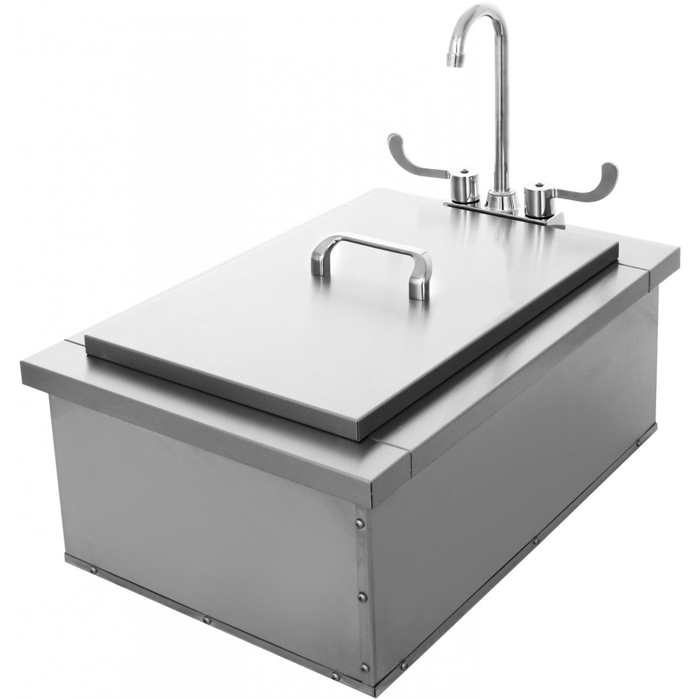 bbqguys com 16 inch drop in bar sink w