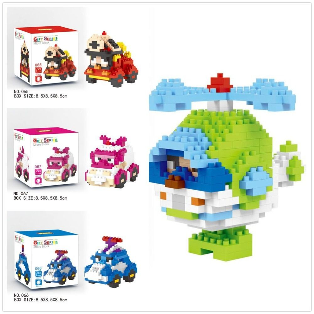 $157.89 (Buy here: http://appdeal.ru/dujg ) LNO Micro Blocks Korea Poli Mini Car Blocks Helicopter DIY Building Toys Juguetes Mini Auction Figures Kids Gifts 065-068 for just $157.89