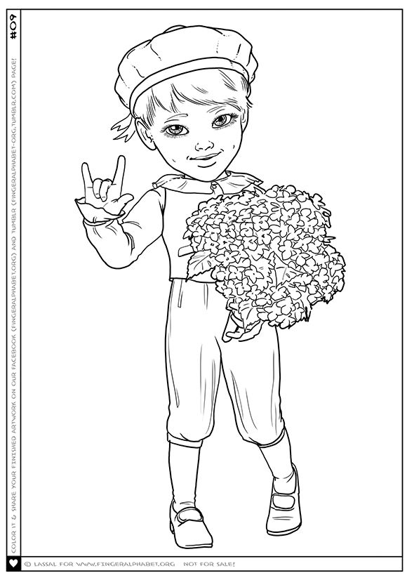 ily coloring pages Coloring Picture / ILY #09 | deaf crafts/gifts | Pinterest  ily coloring pages