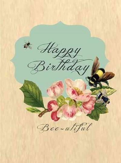Greeting Cards Happy Birthday Bee Utiful Blank Inside Package Of 6