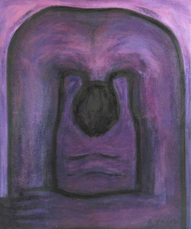 Květa Válová - Pokání, 1996 - olej, plátno, 162 x 135 cm