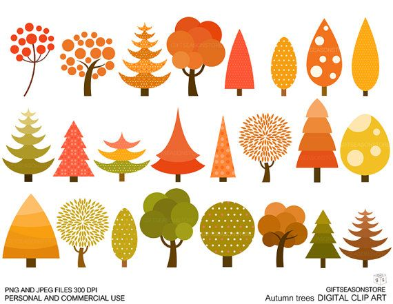 Autumn tree clip art for Personal and by Giftseasonstore ...