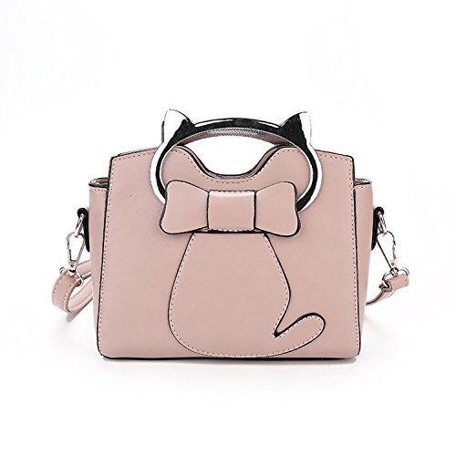 52f30db04069 SEALINF Womens Girls PU Leather Cat Top Handle Cross Body Shoulder Bag  Purse Small Handbag