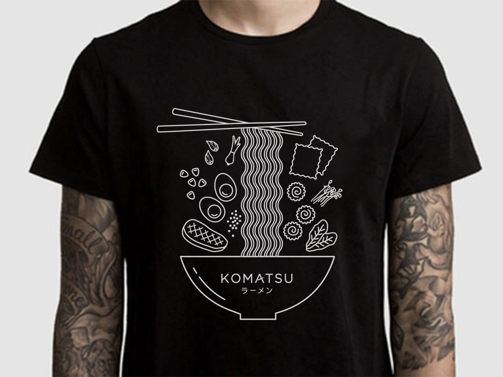 Komatsu Ramen has some rad new t-shirts! (Whoever designed them ...