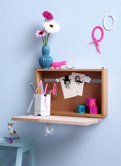 Mini-Sekretär aus alter Schublade, Upcycling, DIY, produziert für Neues Zuhause