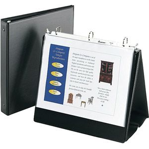 Avery 12880 Easel Presentation Durable Binder 1 Round Rings Holds 11 X 8 1 2 Paper Black Walmart Com In 2020 Presentation Binders Binder Pockets Binder