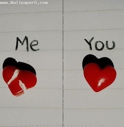 Cute Couple Emo Wallpapers Download Broken Couple Heart Love Sad Sadnes Heart