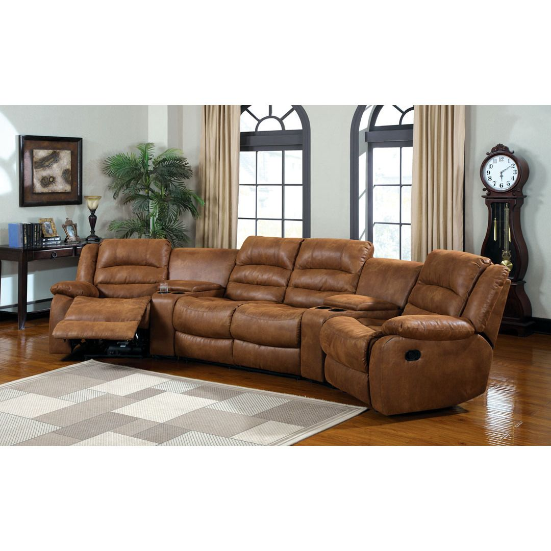 Furniture Of America Manchester Home Theatre Like Fabric