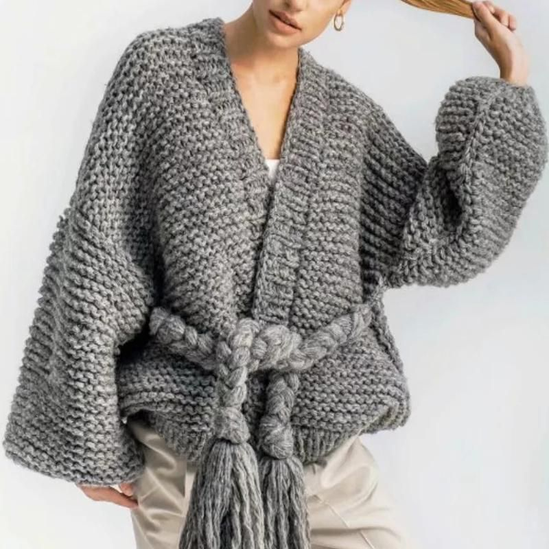 Cozy Hand Knitted Cardigans in Pink, Grey, and Ivory fits