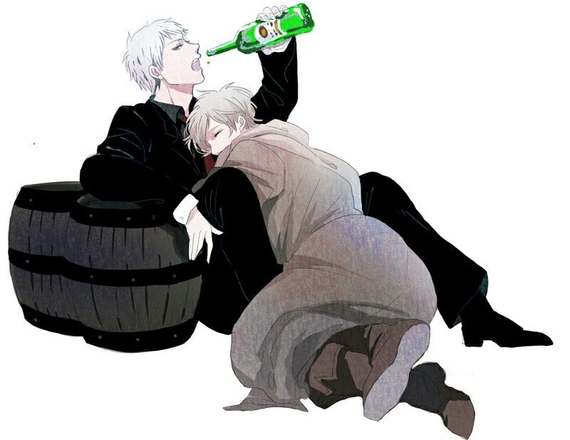 Gilbert and Иван (Prussia and Russia) hetalia